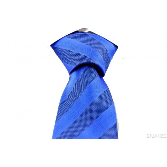 Mavi Desenli Mendilli Kravat - Brianze