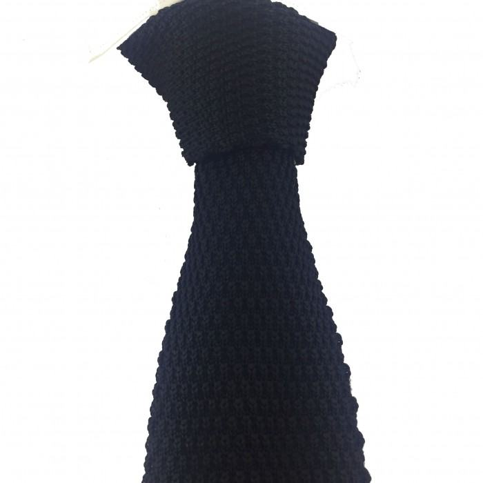 Siyah Renk Örgü Kravat - Brianze
