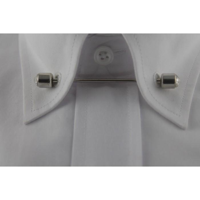 Gümüş Rengi Taşlı Gömlek Yaka İğnesi - Brianze GY-10