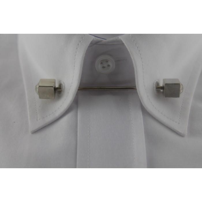 Gümüş Rengi Taşlı Gömlek Yaka İğnesi - Brianze GY-11