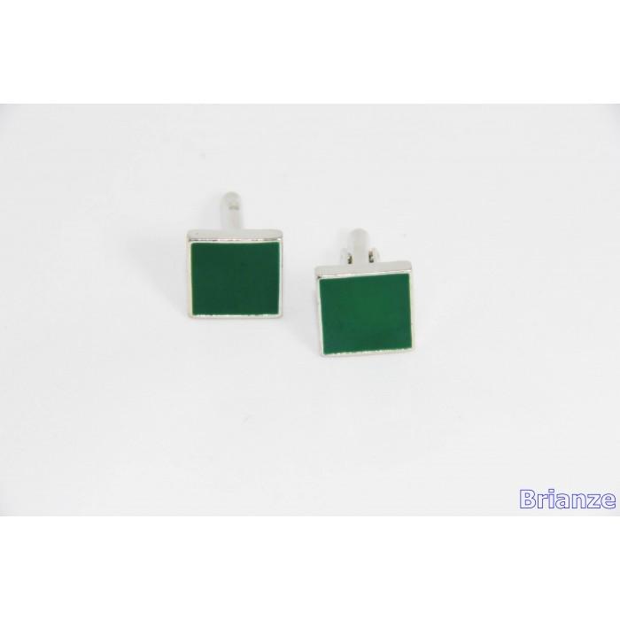 Koyu Yeşil Kol Düğmesi - Brianze