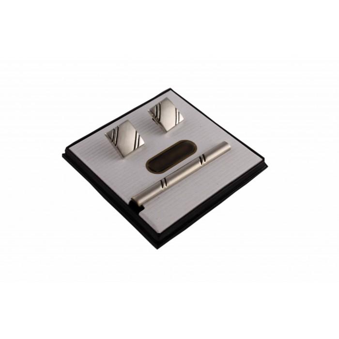 Kol Düğmesi ve Kravat İğnesi Set-Brianze KD-27