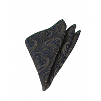 Haki Yeşil Şal Desen Mendilli Kravat - Brianze   MKAA-3