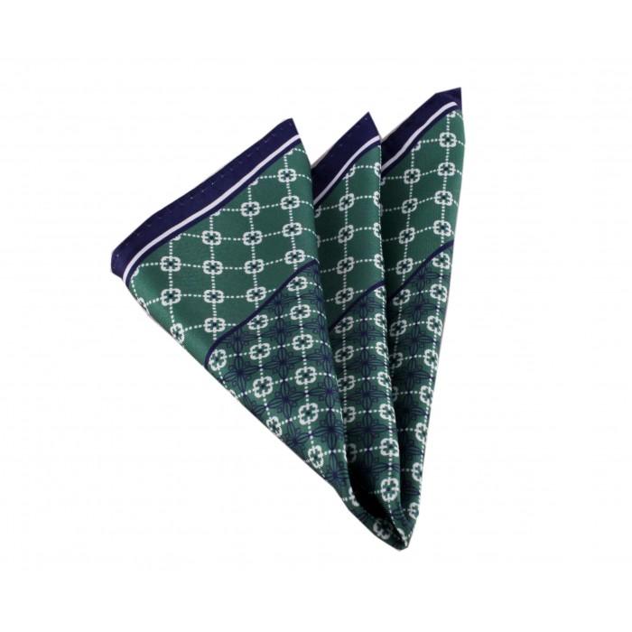 Yeşil Desenli Mendil-Brianze M-45