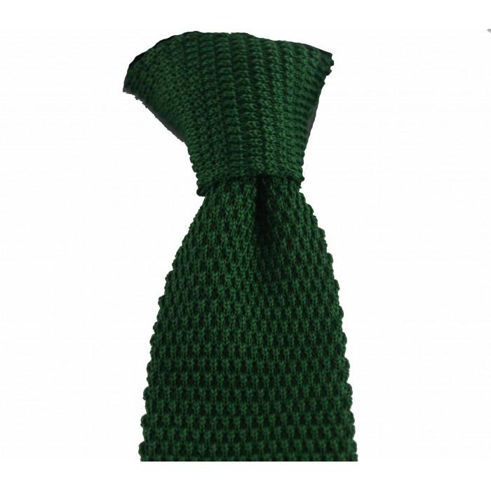 Yeşil Renk Örgü Kravat - Brianze