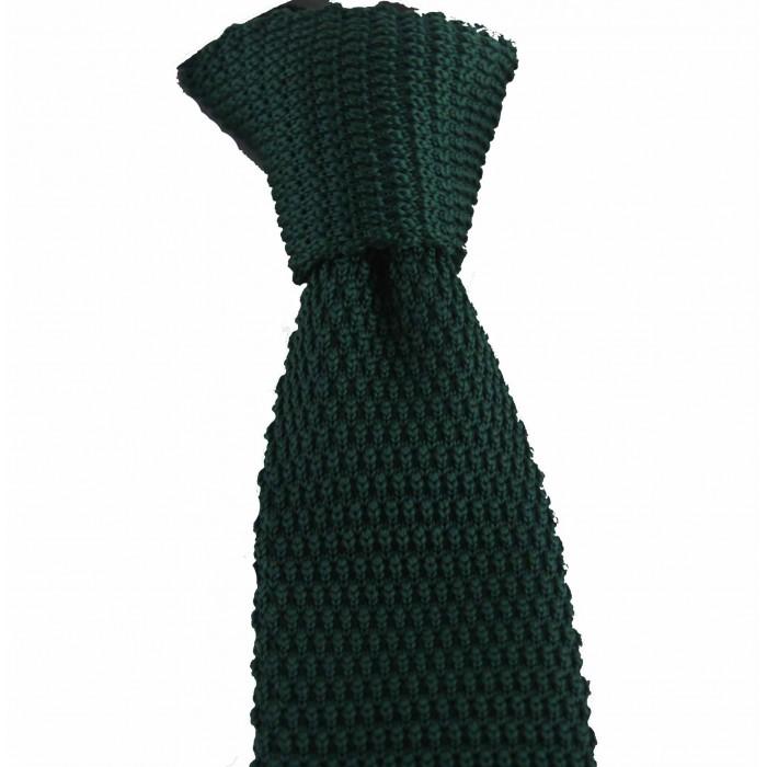 Zümrüt Yeşil Renk Örgü Kravat - Brianze