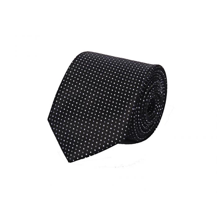 Beyaz Noktalı Siyah Kravat - Brianze O-3