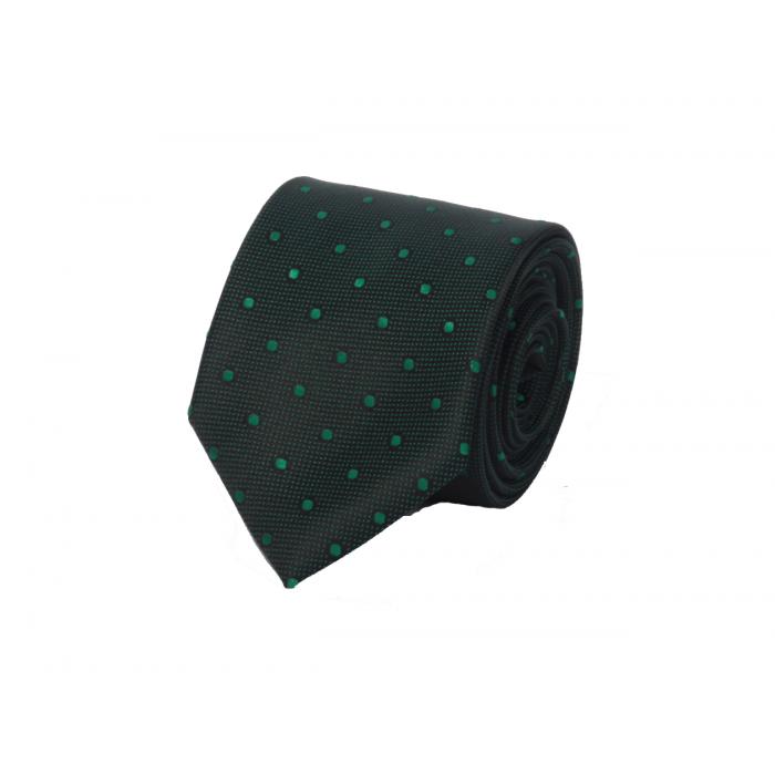 Koyu Yeşil Noktalı Kravat - Brianze  O-4