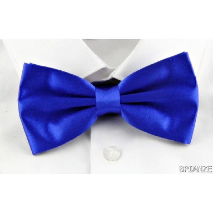 Düz Renk Saks Mavi Papyon - Brianze