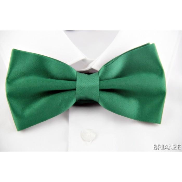 Düz Renk Yeşil Papyon - Brianze